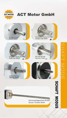 DE Free 1PC Nema17 Schrittmotor 17HS4410-04 1A 40mm Bipolar 0.5Nm D-Shaft Φ5mm