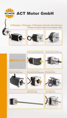 DE Free 3PCS Nema17 Schrittmotor 17HM5417 1.7A 48mm 0.9°  Φ5mm 60oz-in  Bipolar 11