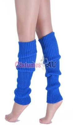 Ladies Legwarmers Gloves leg warmers Knitted Neon Dance 80s Party Costume 1980s 4