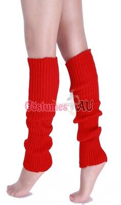 Ladies Legwarmers Gloves leg warmers Knitted Neon Dance 80s Party Costume 1980s 6
