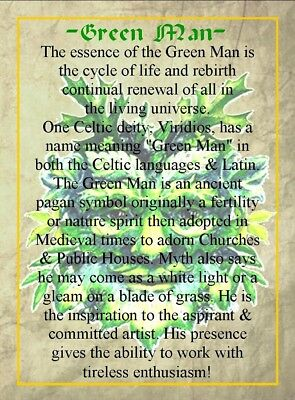 Green Man Celtic Earrings Ceramic Crystal Cernunnos Viridios Pagan Medieval 5