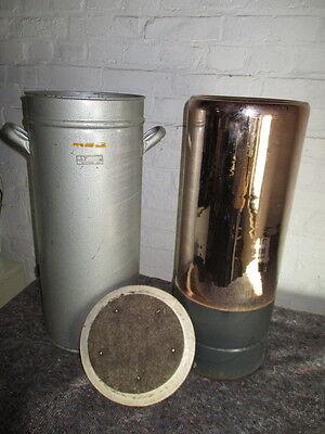 2. Transport - Zylinder mit 2 Griffen, 60 cm hoch, innen kupferfarbenes Glas,DDR