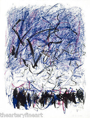 JOAN MITCHELL 'Bedford III' 1981 SIGNED Lithograph Limited Edition Print Framed 7