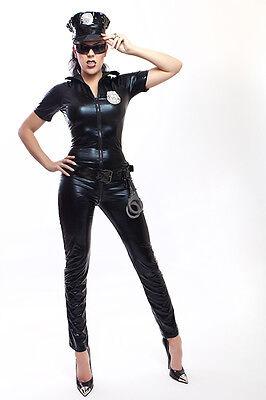 Sexy Polizei Kostüm in Lack/ Latex look Sexy Police Woman Costume 2
