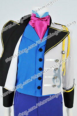 Details about  /Frozen Cosplay The Snow Queen Hans Prince Costume Swallowtail Uniform Full Set