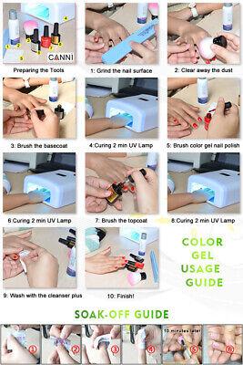Nail gel polish set CANNI Soak off UV LED Colour Glitter Base Top Coat Varnish 2