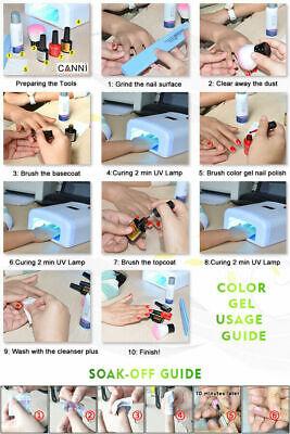 Premium Nail Gel Polish UV LED Set CANNI Colour Varnish Glitter Top 15,000+ SOLD 7
