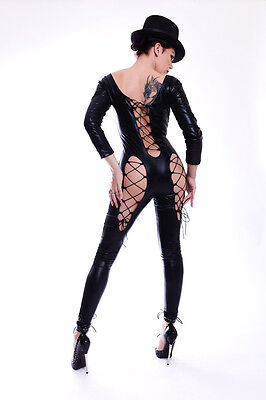 Lycra Catsuit in Lack/Latex look mit dem Hut / Sexy lycra Catsuit with a hat 2