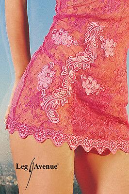 Transparentes Neckholder-Minikleid im Retro Style Leg Avenue 3