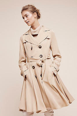 NWT Anthropologie Edmond Trench by dRa adorable Flirty Femme SP M
