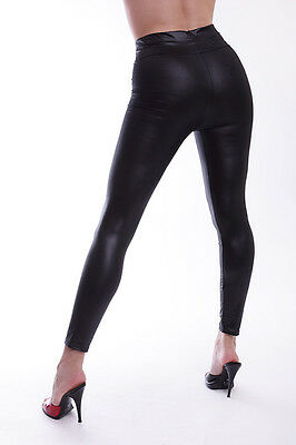 Lycra Leggings in Leder Look / Lycra Leggings in Leather Look 2