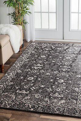 Hallway Runner Hall Runner Rug Modern Black 5 Metres Long Edith 252