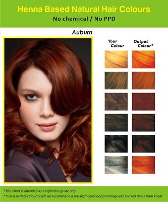 HENNA HAIR DYE Auburn Natural Hair Color Powder Conditioner Chemical Free