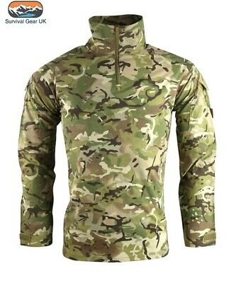 BRITISH ARMY STYLE UBAC SHIRT MENS S-2XL MTP BTP CAMO WARM WEATHER TOP AIRSOFT
