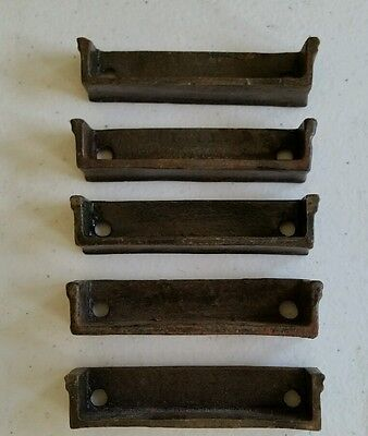 Set of 5 of 3 inch Cast Iron Door Rim Lock Keeper  Catch Strike Plate (#1) 3