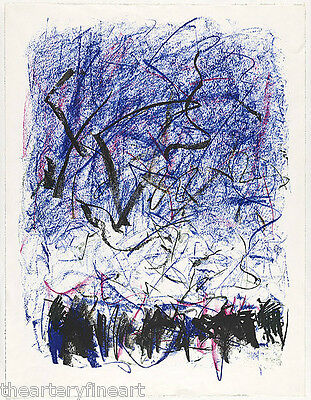 JOAN MITCHELL 'Bedford III' 1981 SIGNED Lithograph Limited Edition Print Framed 11