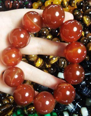 Ingenious China Pure Natural Red Agate Handmade Elastic Bracelet 6