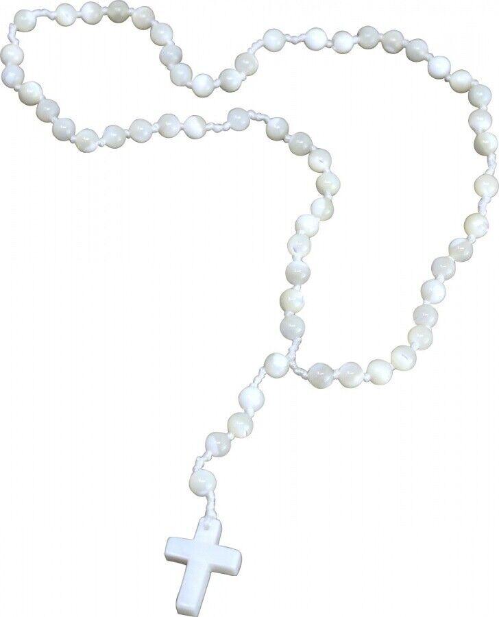 Gebetskette Rosenkranz aus Bergkristall 59 Kugeln Rosen Kranz Gebet Meditation