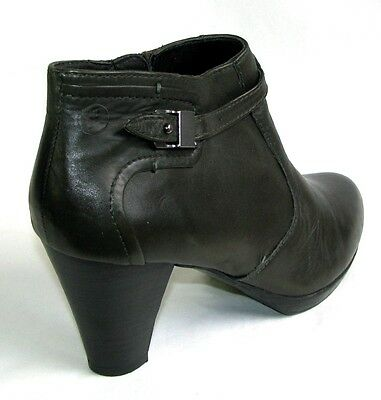 2ba296499d4a ... PIURE LEATHER - Bottines low boots talons tout cuir kaki foncé 41  EXCELLENT ETAT 5