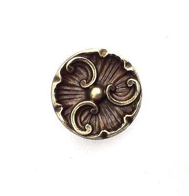 brass antique hardware vintage drawer pull Cabinet knob french provincial 2