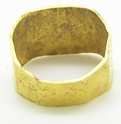 1st - 3rd century A.D. Ancient Roman Gold Finger Ring Victory Palm 4