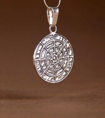 Fortuna Anhänger Talisman Zeichen Silber Esoterik 925 Amulett  2,5 cm