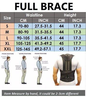 Unisex Posture Corrector Lumbar Lower Back Support Shoulder Brace Pain Magnetic 9