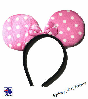 Mickey Minnie Mouse Ears Headband Party Costume Bow Fancy Dress 7 Colours Option 5