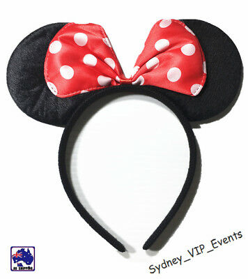 Mickey Minnie Mouse Ears Headband Party Costume Bow Fancy Dress 7 Colours Option 7