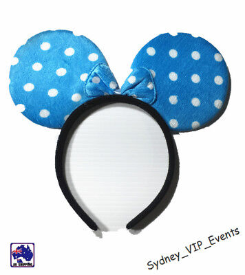Mickey Minnie Mouse Ears Headband Party Costume Bow Fancy Dress 7 Colours Option 6