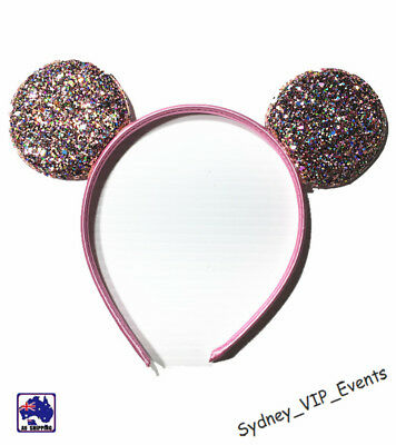 Mickey Minnie Mouse Ears Headband Party Costume Bow Fancy Dress 7 Colours Option 2