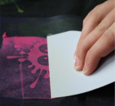 1 Schablone Textil Siebdruckschablone Federn Feder  DIN A5 Rakel my style