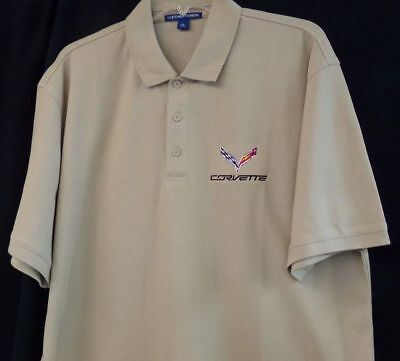 C6 Chevrolet Corvette Racing Embroidered Mens Polo XS-6XL LT-4XLT Chevy New