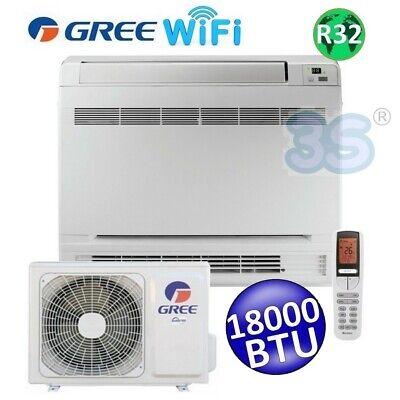 3S CLIMATIZZATORE GREE R32 WiFi mono CONSOLE PAVIMENTO 18000 BTU A+++ A+ 5.0 kW 3