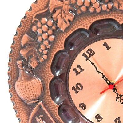 Wall clock copper polished decorated 4 seasons quartz movement