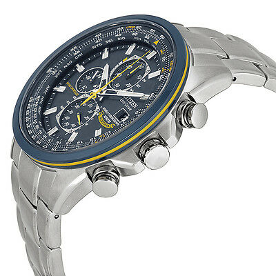 "Citizen Men's AT8020-54L ""Blue Angels"" Stainless Steel Eco-Drive Dress Watch 2"