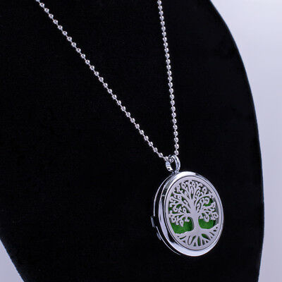 Aroma Diffuser 30mm pendant Necklace Lockets Perfume Essential Oil Aromatherapy 6