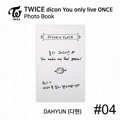 TWICE x dicon You Only Live ONCE Card Photo Book Postcard Dahyun KPOP K-POP 7