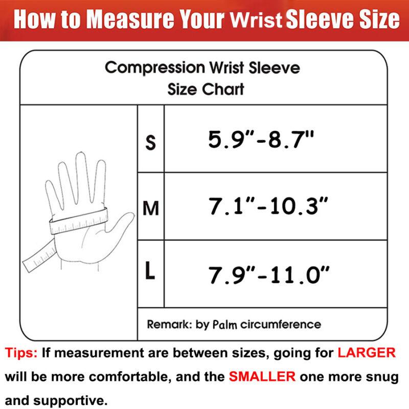 Copper Wrist Brace Compression Gloves Carpal Tunnel Support Hand Arthritis RSI 2