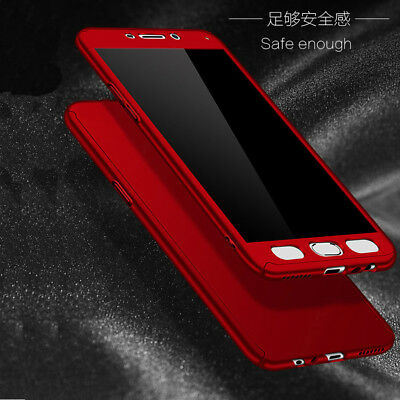 For Samsung J4 J6 Plus J8 / J3 J5 J7 Pro 360° Full Cover Case + Tempered Glass 3