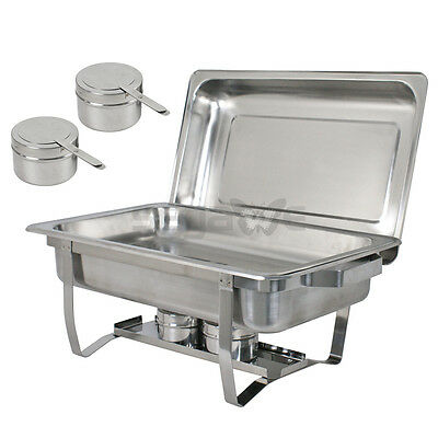 4 Pack Catering Stainless Steel Chafer Chafing Dish Sets 8 Qt Party Pack 10