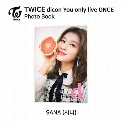 TWICE x dicon You Only Live ONCE Card Photo Book Postcard Sana KPOP K-POP 2