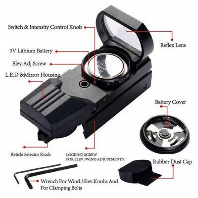 Red Dot Sight Reflex Holographic Scope Tactical Optics Mount 20mm Rails - USA 8