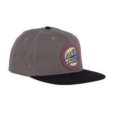 Santa Cruz SCS BLOCK STRIP BADGE Adjustable Snapback Skateboard Hat GREY//BLACK