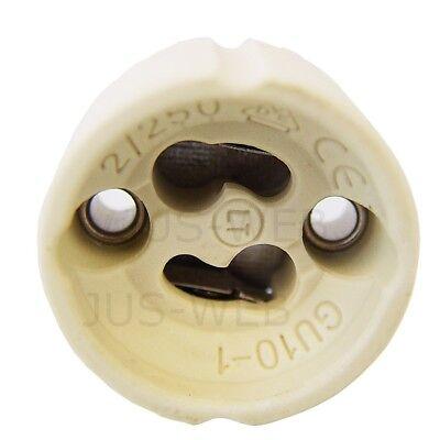 10x GU10 Lampen Fassung mit Aderendhülsen Sockel Halogen LED Fassungen 10 Stück