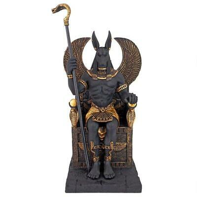 WU76733 - Egyptian Anubis God Sitting on the Throne of the Underworld Statue 2