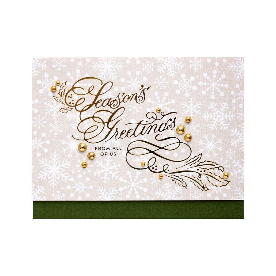 Greetings Wishes Word Hot Foil Plates Dies Stencil Embossing Craft Scrapbooking 5