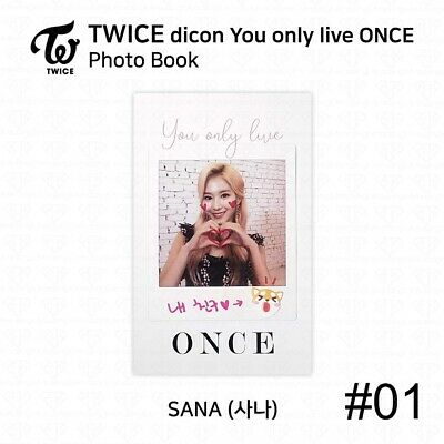 TWICE x dicon You Only Live ONCE Card Photo Book Postcard Sana KPOP K-POP 4