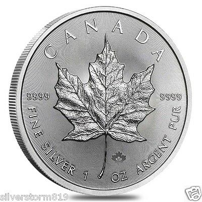 Here in Stock 2017 Canada Silver Maple Leaf  1 OZ SILVER  COIN 3