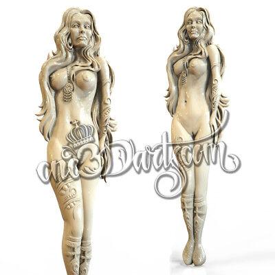 3D Model STL for CNC Router Artcam Aspire Nude Girl Woman Panel Cut3D Vcarve 2
